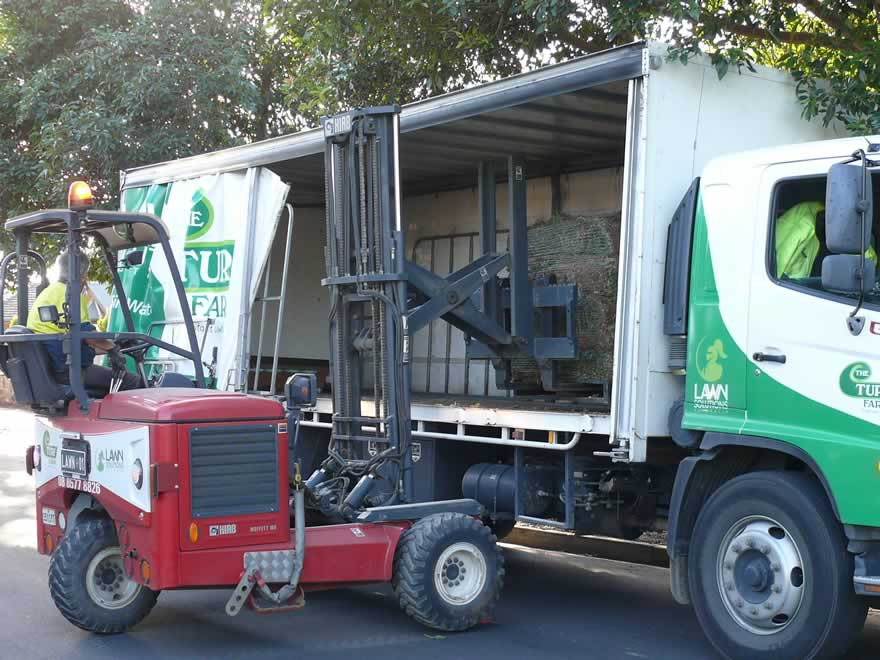 purpose built lawn delivery equipment